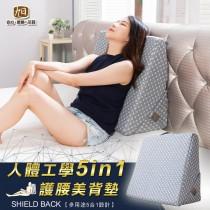 旭川人體工學 5 in 1 腰靠護背墊-美鳳有約推薦(1組)