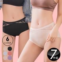 超值降溫內褲 法國香茉無痕貼合蠶絲美臀內褲 - 必敗買6送1(顏色隨機)(XL (33-36))